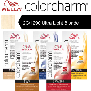 Wella Color Charm Permanent Liquid Haircolor - 12C1290 Ultra Light Blonde 1.4 oz. (6651)