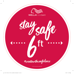 Wella Color Charm Stay Safe 6 ft Floor Sticker 3 Pack (6672)