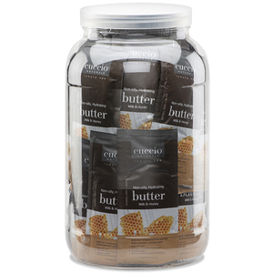 Cuccio Naturale Milk & Honey Butter Sachets 65 Piece Canister (9655)