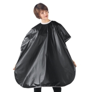 "BETTY DAIN Solid Vinyl Shampoo Cape Black 36""W x"
