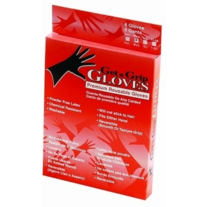 LUXOR Color Tools - Black Latex Gloves Large 6Box