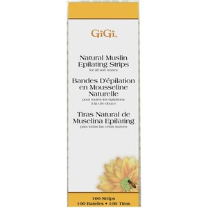 GIGI Natural Muslin Strips Small 100 Pack