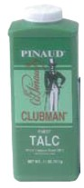 CLUBMAN Talc Powder White 9oz. 12 Pieces