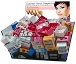 Cosmetic Pencil Sharpeners - Assorted Colors 144 Count Display (SP0202S)