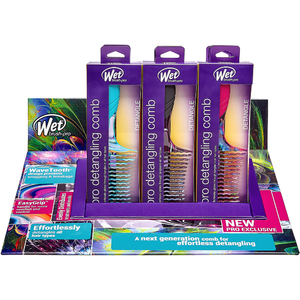Wet Brush Pro 12-Piece Electric Dreams Detangling Comb Display