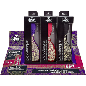 Wet Brush Pro 9-Piece Heavenly Henna Pro Detangler Display