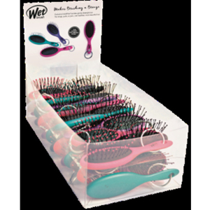 25-Piece Wet Brush Pro Jewel Tone Keychain Detangler Display