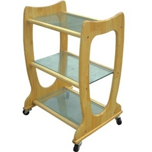 Meishida 3 Shelf Natural Color Wood Cart (CH-5024)