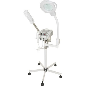 3-in-1 Facial Unit - Aromatherapy Ozone Facial Steamer with Silent Timer + 5 Diopter Magnifying Lamp with 8 Diopter Spot Lens + High Frequency Combo (CM-7005D)