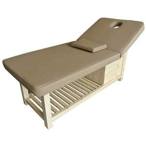 Multi-Purpose Wood Frame Massage and Facial Bed with Storage (CH-2W5)
