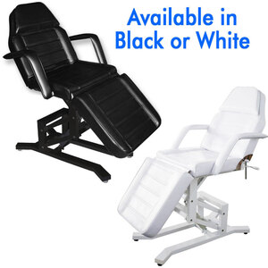 Evie 3-Section 1-Motor Facial Bed and Treatment Chair Available in White or Black (CH-258)