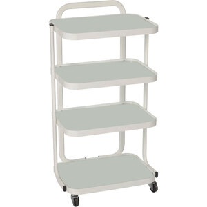 Harley Trolly Cart with Metal Frame + 4 Glass Shelves (CM-3035)