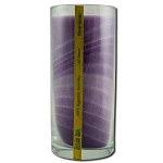 Candle Gem Tone Unscented Jar Violet 11 oz by Al