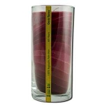 Candle Gem Tone Unscented Jar Red 11 oz by Aloha