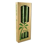 Candle 9 Inch Palm Taper Green 4 Pack by Aloha B