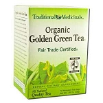 Organic Golden Green Tea 16 Tea Bags by Traditiona