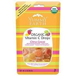 Organic Candy Drops Vitamin C Citrus 6 x 3 oz Bag