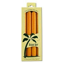 Candle 9 Inch Palm Taper Orange 4 Pack by Aloha