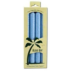 Candle 9 Inch Palm Taper Light Blue 4 Pack by Al