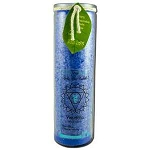 Candle Chakra Jars Unscented Visuddha-Blue 16 oz