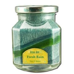 Candle Scented Deco Jar Fresh Rain (TurquoiseGr