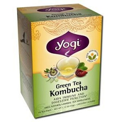 Green Tea Kombucha 16 Tea Bags by Yogi Tea Company