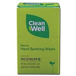 Clean Well Foil-Wrapped Wipes Pack - 10 Mini Hand