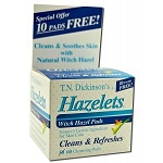 Hazelets Witch Hazel Pads 60 Pads by Dickinson Bra
