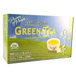 Premium 100% Organic Green Tea 100 Tea Bags by Pri