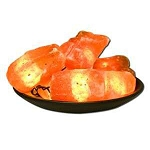 Himalayan Salt Crystal Lights Fire Bowl Lamp by Al