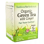Organic Green Tea with Ginger 16 Tea Bags by Tradi