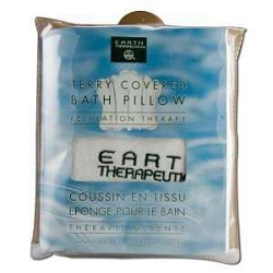 Terry Covered Bath Pillow White by Earth Therapeu