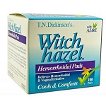 Witch Hazel Hemorrhoidal Pads with Aloe Vera 100 P