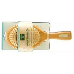 Natural Wooden Pin Massage Brush Large by Earth