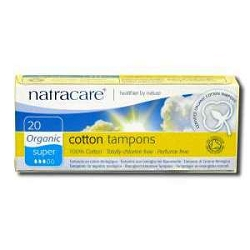 Organic Cotton Tampons without Applicator Super A