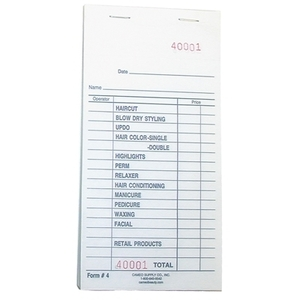 "Check Pad White 3-38"" X 6-34"" 100 ChecksPad (P4"