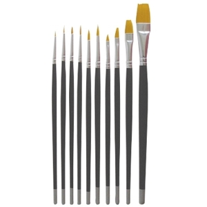 DL Professional 10-Piece Nail Art Brush Set (DL-C6