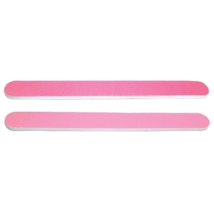 DL Professional Dark Pink/Light Pink Nail File 100/180 Grit (DL-C50)