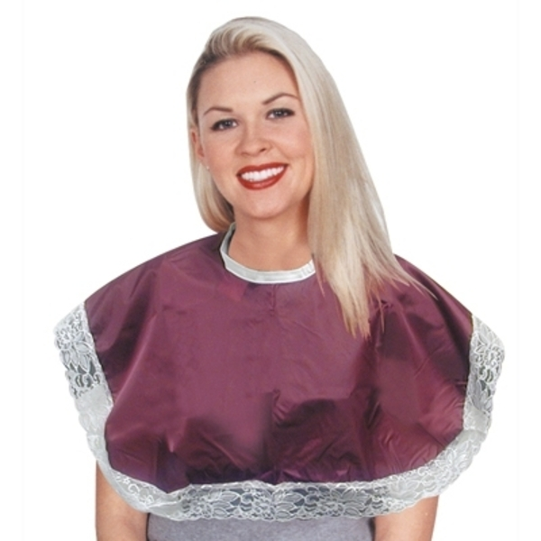 DL Professional Lace Make-Up Cape Velcro Burgundy