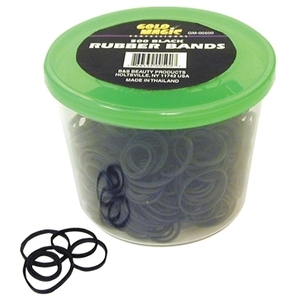 Gold Magic 500 Black Rubber Bands In A Container (
