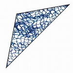 Gold Magic Rayon Triangle Veils Blue (825-BL)