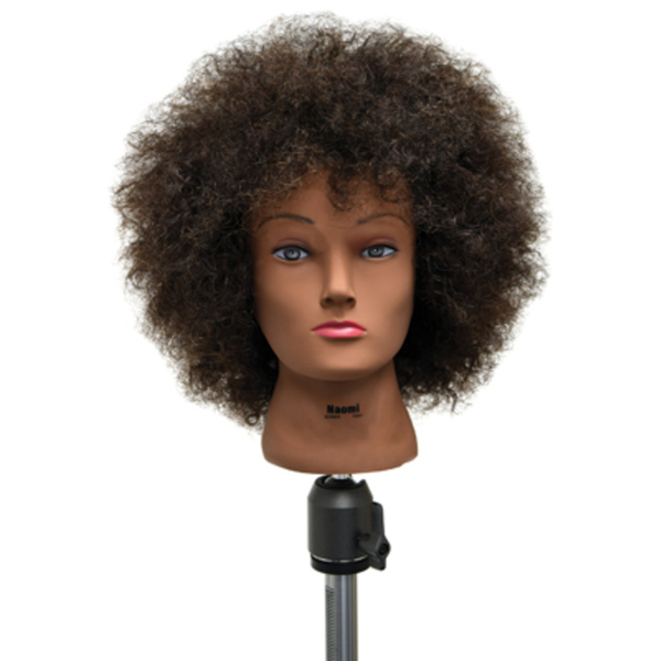 "Celebrity Naomi Budget Afro Manikin 20"" Brown (E"