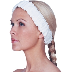 Scalpmaster Elasticized Spa Headband White (3059