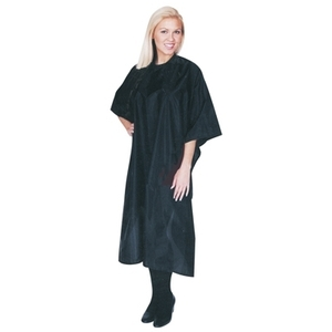 "Scalpmaster Nylon Styling Cape 45""X55"" Snap Black"