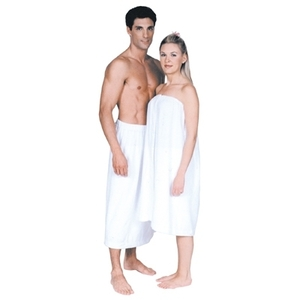 Scalpmaster Terry Cloth Spa Wrap Velcro White (30