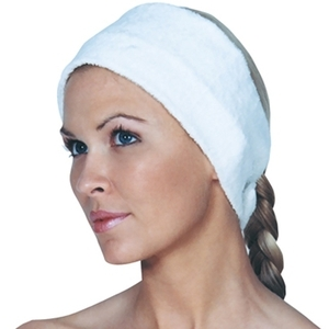 Scalpmaster Velcro Spa Headband White (3058)