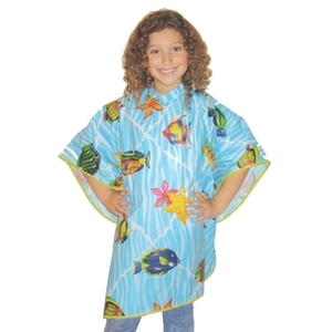 "Scalpmaster Vinyl Tropical Kiddie Cape 42"" X 35-1"