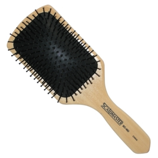 Scalpmaster Wood Cushion Paddle Brush (SC-482)