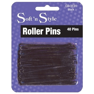 Soft 'n Style Black Carded Roller Pins (CD-3131)