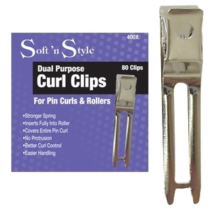 "Soft 'n Style Boxed Pin Curl Clips 80 per Box ""Th"